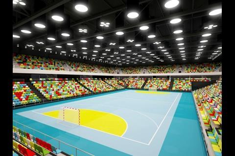 Hnadball arena 2012 interior